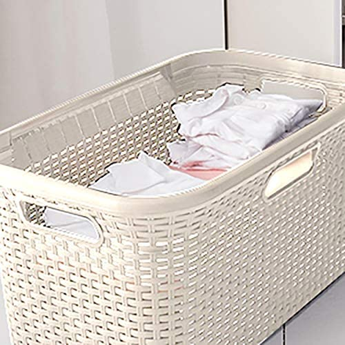 Curver 187492 - Cesta Natural Style, Blanco, 59x38x27cm: Amazon.es ...