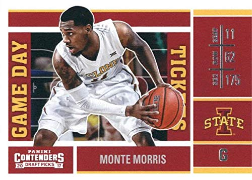Monte Morris basketball card (Iowa State Cyclones) 2017 Panini Game Day Draft Picks Rookie #30