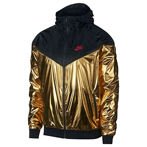 NIKE Sportswear Windrunner Jacket - Gold/Black - L by NIKE