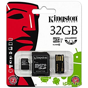 Micro SD 32 GB Kingston Multi Kit Mobility Kit con adaptador ...