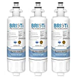 Bristi LG LT700P Refrigerator Water Filter Replacement, LG ADQ36006101, And Fits Kenmore 46-9690 (9690) And Fits WSL-3,WF700 (3 Pack)