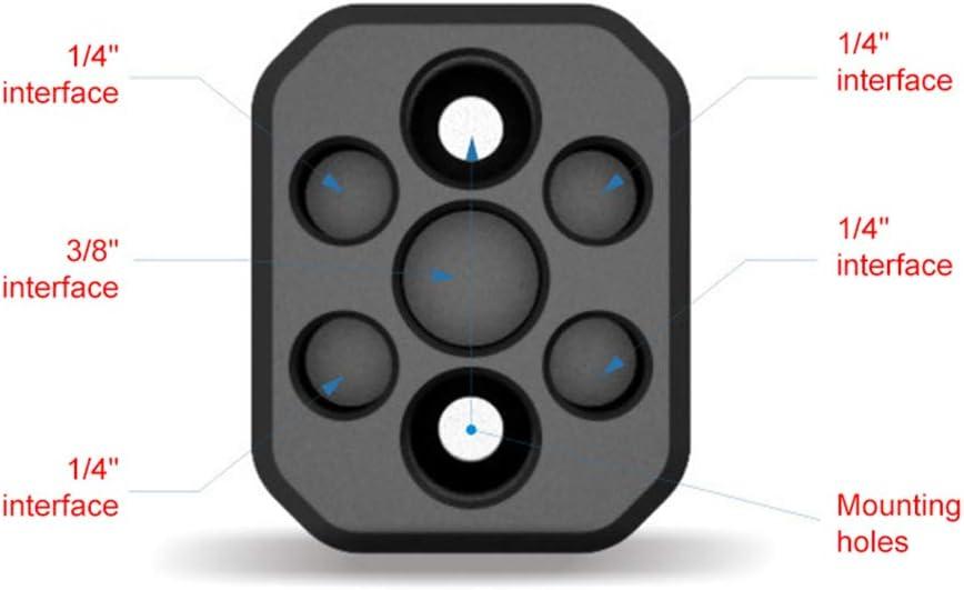 Aluminum 1//4 Screw Adapter Camera Mounting Plate for DJI Ronin-S Accessories hudiemm0B Camera Mounting Plate