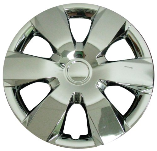 (CCI IWC429-16C 16 Inch Clip On Silver & Chrome Finish Hubcaps - Pack of 4)