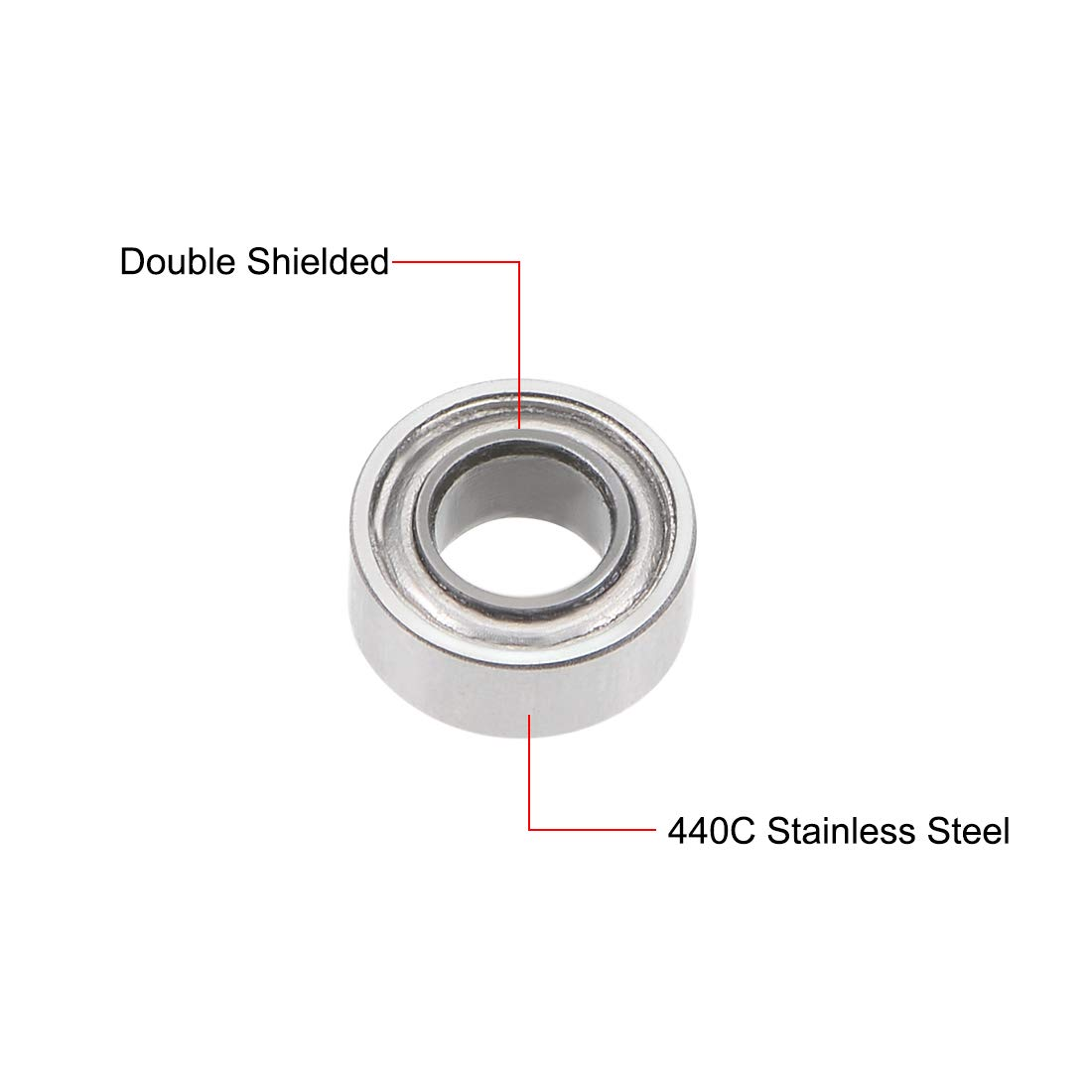 8x14x4 mm 440C Stainless Steel Ball Bearing Bearings SMR148ZZ MR148ZZ 5 PCS
