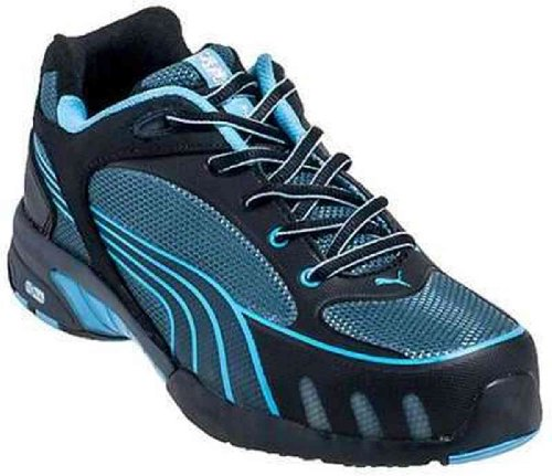 Women's Puma Safety Fuse Motion SD Low Steel Toe Shoes, BLUE, 5D by PUMA