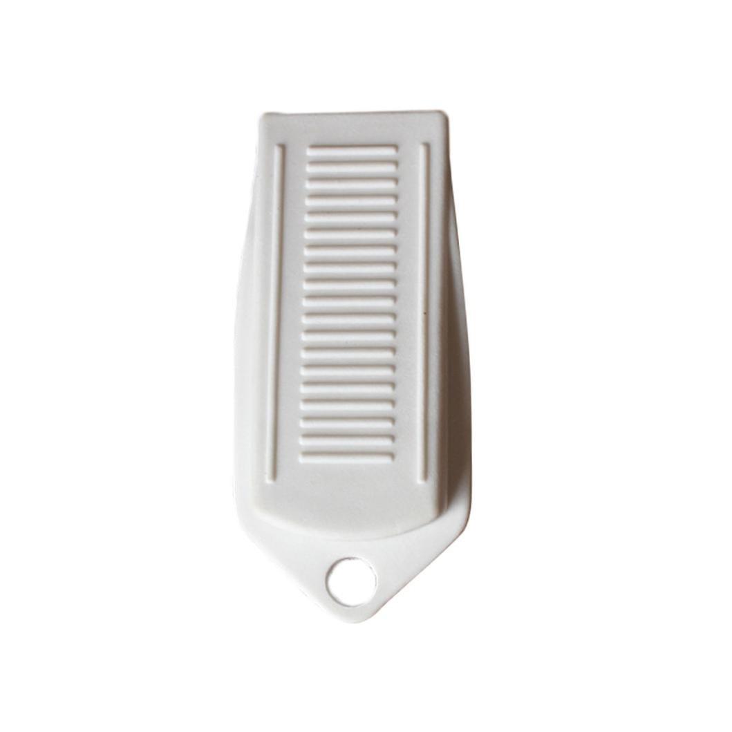 Rubber Door Stopper Witspace  Heavy Duty Door Wedge Decorative,Flexible and Non Scratching Door Holder (White)