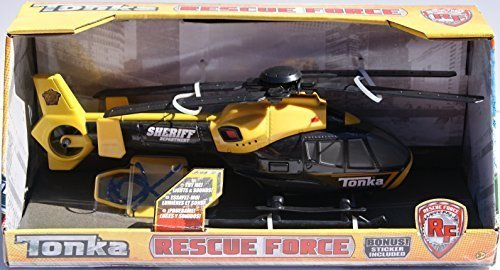 Tonka Rescue Force Sheriff Helicopter - Lights and Sound (Tonka Helicopter)