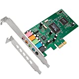 QNINE PCIe Sound Card for PC Windows 10, PCI Express Desktop Sound Adapter with Low Profile Bracket, 3D Stereo PCI-e Audio Card, VIA 1723 Chip 32/64 Bit Sound Card for Windows XP / 7/8