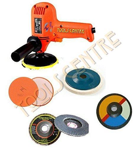- Tools Centre Universal Multipurpose All in 1 Mini 450~600WATT RED Variable Speed Drill Machine Cum CAR/Bike Polisher Cum Grinder Machine with Grinding & Polishing Wheel Combo Offer