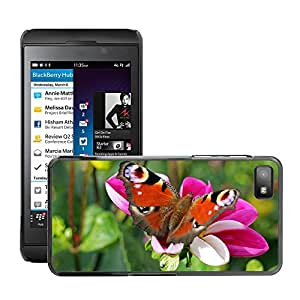 Super Stella Slim PC Hard Case Cover Skin Armor Shell Protection // M00149814 Peacock Butterfly Butterfly Peacock // BlackBerry Z10