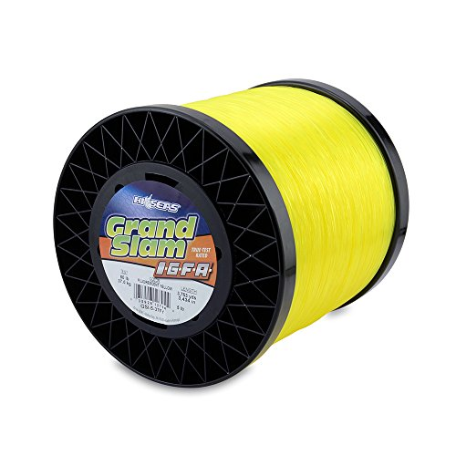 Hi-Seas Grand Slam IGFA Mono Line Class 37 80 lb (37 kg) Test .034 in (0.87 mm) Diam, Fluoro Yellow, 1 lb/751 yd (687 m)