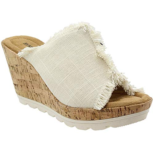 (Minnetonka Women's, York High Heel Wedge Sandals Stone 11 M)