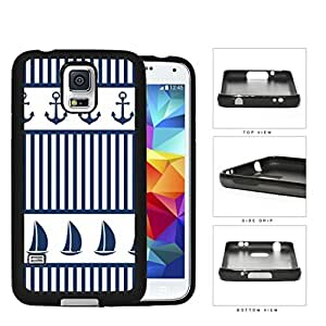 Sailboat And Boat Anchor Rubber Silicone TPU Cell Phone Case Samsung Galaxy S5 SM-G900