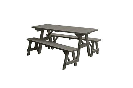 Terrific Amazon Com Al Furniture Traditional Wooden Picnic Table Machost Co Dining Chair Design Ideas Machostcouk