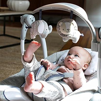 Ingenuity, Townsend 2 in 1 Babyschaukel und -sitz, zusammenklappbar, mit Vibrationen, 5 Schaukelgeschwindigkeiten, mehr als 8 Melodien und Lautstärkeregler 3