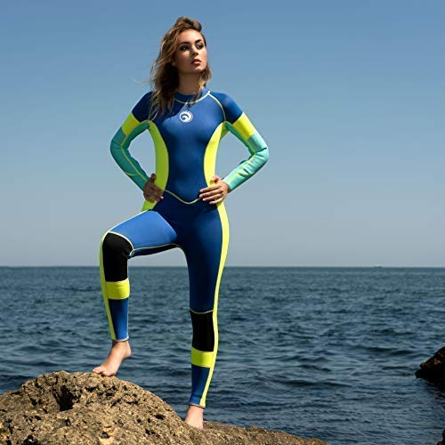 Sleeveless Wetsuit. 3 mm Neoprene Women's Wetsuit | Colourful Panel Slimming Design | 3 mm Neoprene Thermal Protection | Anti Abrasion Scuba Diving Surfing Fishing Kayaking Swimming