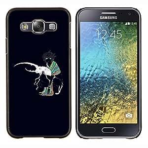 YiPhone /// Prima de resorte delgada de la cubierta del caso de Shell Armor - Beetle Bug Amor Arte Blanca Colrful Chica bufanda - Samsung Galaxy E5 E500