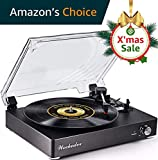 Record Player Turntable Portable Bluetooth LP Belt-Drive 3-Speed Vintage Style Vinyl Record Player ( Fashion Style-Gray) (Fashion Style-Gray)