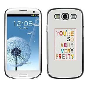FECELL CITY // Duro Aluminio Pegatina PC Caso decorativo Funda Carcasa de Protección para Samsung Galaxy S3 I9300 // Pretty Girlfriend Love Text Gift Colorful