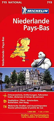 Michelin Niederlande: Straßen- und Tourismuskarte (MICHELIN Nationalkarten, Band 715)