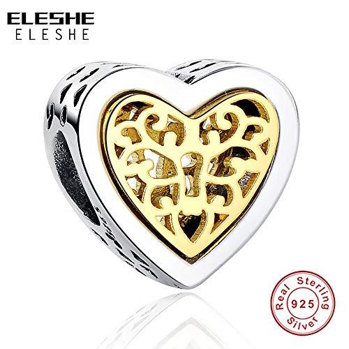 c3e7716f2 Ochoos Luxury Brand 100% 925 Sterling Silver Heart Charms Bead Fit Original  Bracelet Necklace Pendant