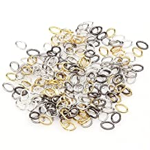 ILOVEDIY 1000pcs Mixed Color Oval Split Jump Rings Connector Jewelry Making Jump Rings