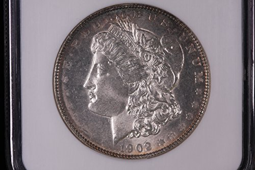 1902 Morgan Silver Dollar Mint Error Obverse Filled Die. $1 MS-64 NGC
