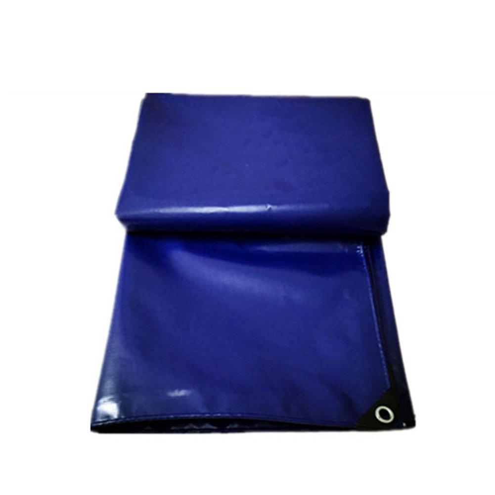 PENGFEI ターポリン 防水 厚い トラック 防塵の 品 カーポート シェード 日焼け止め 耐寒性 PVC、 500G/M2 (色 : 青, サイズ さいず : 6x8m) B07DB4FNTL 6x8m 青 青 6x8m