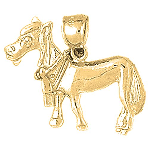 - Jewels Obsession Donkey Charm Pendant | 14K Yellow Gold Donkey Pendant - 21 mm
