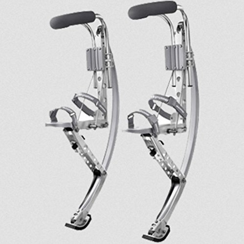 Adult Kangaroo Shoes Jumping Stilts Fitness Exercise (200-242lbs/90~110kg) Bouncing shoes (silver)