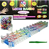 Moondon NEW DIY LOOM KIT SET COMES WITH 25 S CLIPS AND 600 RAINBOW COLORS RUBBER BANDS