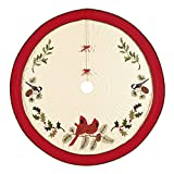 54'' Quilted Christmas Tree Skirt, Holiday Song Birds
