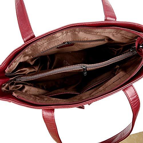 de Sac Main Paquet à Fashion avec A Sac 15 33 Main cm Cuir Grande à Lady capacité 31 Souple Besace Sxuefang en 6wO5tq
