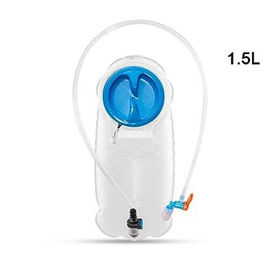1.5L/2.5L randonnée hydratation vessie avec clips de fixation pour maintenir à boire Tube en polyuréthane thermoplastique sans BPA pour sac à dos Système Pack Réservoir d'eau Camping