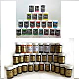 73 Sugarflair Food Colour pots of Gel Based Food Colour Plus Single 18ml pot of Cupcake Avenue Edible Glue