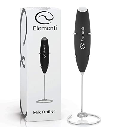 Amazon Milk Frother With Stand Black