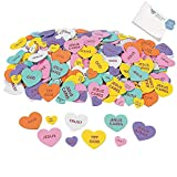 Bargain World Inspirational Conversation Self-Adhesive Foam Hearts (With Sticky Notes)