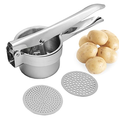 Joyoldelf Stainless Potato Presser Interchangeable