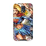 Faddish Phone Supergirl Case For Galaxy S5 / Perfect Case Cover With Free Screen Protector
