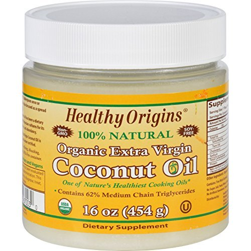 Healthy Origins Coconut Oil - Organic - Extra Virgin - 16 oz by Healthy Origins
