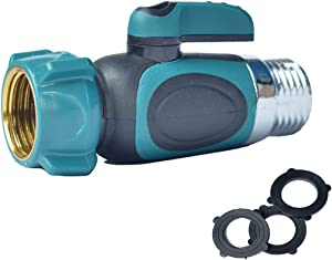 Kihappy Garden Hose to Shut Off Valve Connect Outside Spigot Friendly Faucet Extension - Ergonomic Aesthetic and Highly Durable