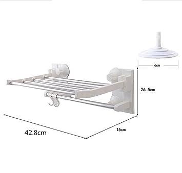 Daeou Badezimmer Handtuchhalter Edelstahl Double Layer Handtuchhalter