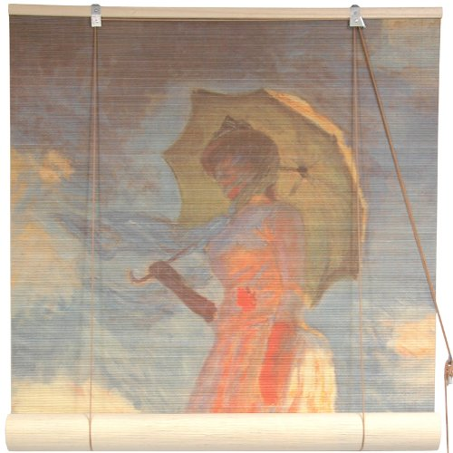picture of Oriental Furniture Girl With a Parasol Bamboo Window Blinds