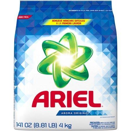 Ariel Laundry (Ariel Original Scent Laundry Detergent Powder,Safe for color clothes,3700094600, 141 oz,28 loads)