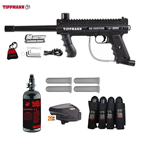 Tippmann Accessories Model 98 (MAddog Tippmann 98 Custom Advanced Paintball Gun Package - Black)