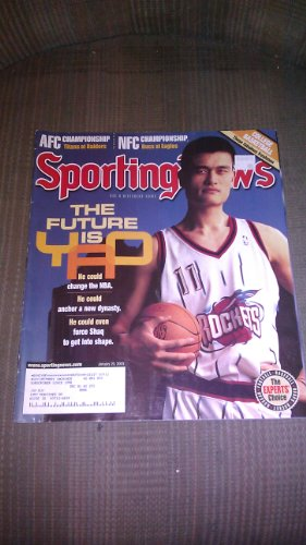 Sporting News January 20 2003 the Future Is Yao Ming He Could Change the Nba ()