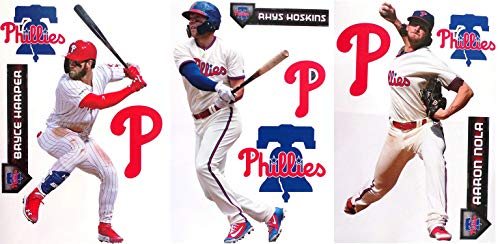 FATHEAD Philadelphia Phillies Collection 3 Players + Phillies Logo Sets Official MLB Vinyl Wall Graphics - Each Player Graphic 17