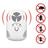 NNDA CO Ultrasonic Indoor Electronic Anti Mosquito Rat Mice Pest Bug Repeller EU/US Plug, ABS(White)