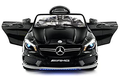 2018 Mercedes Benz CLA 12V Powered Ride On Motorized Toy Car Wheels w/ Remote, Leather Seat, LED Lights