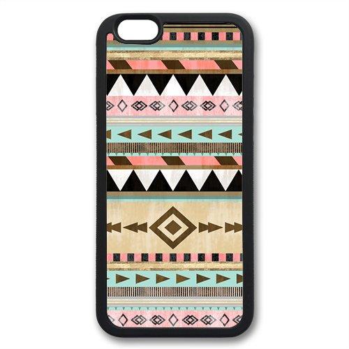 Coque silicone BUMPER souple IPHONE 6 - Aztec tribal Azteque motif 5 DESIGN case+ Film de protection OFFERT